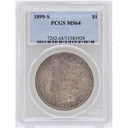 1899-S $1 Morgan Silver Dollar Coin PCGS MS64