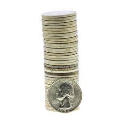 Roll of (40) Brilliant Uncirculated 1952-D Washington Quarter Coins