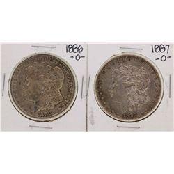 Lot of 1886-O & 1887-O $1 Morgan Silver Dollar Coins
