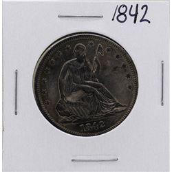 1842 Seated Liberty Half Dollar Coin