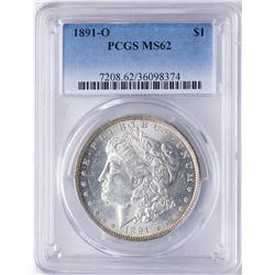 1891-O $1 Morgan Silver Dollar Coin PCGS MS62