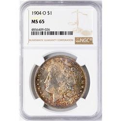 1904-O $1 Morgan Silver Dollar Coin NGC MS65