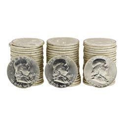 Lot of (3) Rolls of (20) 1963-D Brilliant Uncirculated Franklin Half Dollars