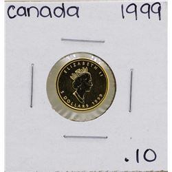 1999 $5 Canada 1/10 oz. Gold Maple Leaf Coin