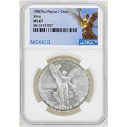 1982Mo Mexico Libertad Onza Silver Coins NGC MS67