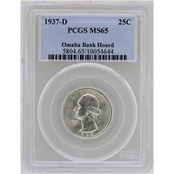 1937-D Washington Quarter Coin PCGS MS65