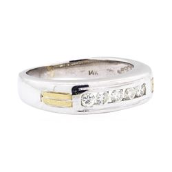 14KT White and Yellow Gold 0.25 ctw Diamond Band