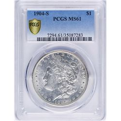 1904-S $1 Morgan Silver Dollar Coin PCGS MS61