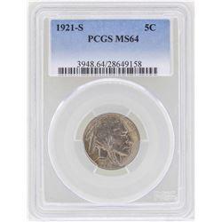 1921-S Buffalo Nickel Coin PCGS MS64