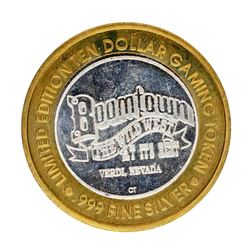 .999 Silver Boomtown Verdi, NV $10 Casino Limited Edition Gaming Token