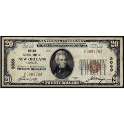 1929 $20 New Orleans, LA CH# 3069 National Currency Note