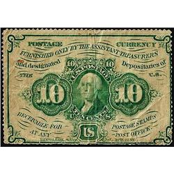 July 17, 1862 10 Cents First Issue Fractional Currency Note