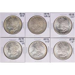1878 $1 Morgan Silver Dollar Set Including 7/8,78-CC,78 7TF Rev 79,78 8tf,78 TF,