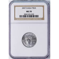 2007 $25 American Platinum Eagle Coin NGC MS70