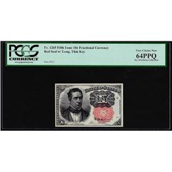 1874 Fifth Issue Ten Cent Fractional Currency Note PCGS Choice New 64PPQ