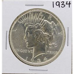 1934 $1 Peace Silver Dollar Coin
