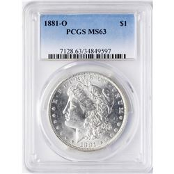 1881-O $1 Morgan Silver Dollar Coin PCGS MS63