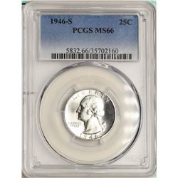 1946-S Washington Quarter Coin PCGS MS66