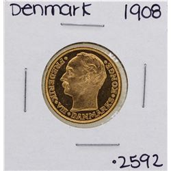 1908 Denmark Frederick VIII 20 Kroner Gold Coin