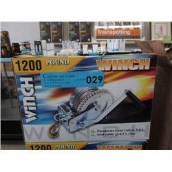 New 1200 LB Winch