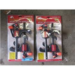 """2 Sets 2 New Pit Bull 6"""" Wood Clamps"""