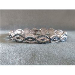 1/4 CT Blue & White Diamond Tennis Bracelet