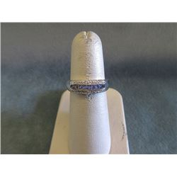 Multi Tanzanite & Diamond Channel Set Ring