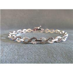 Diamond Infinity Link Design 2 Tone Bracelet
