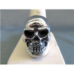 Large Heavy 3D Skull Biker Ring