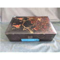 Large Wood Hand Painted Jewelry Box