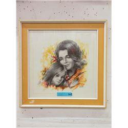 Vintage M. Fabri Framed Print