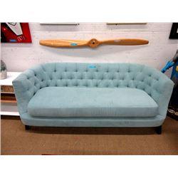 "New Aqua Fabric 76"" Sofa - Floor Sample"