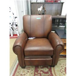 New Brown Leather Amax Push Back Recliner