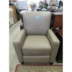 New Taupe Amax Leather Push Back Recliner