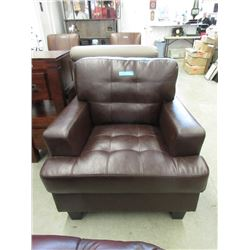 New Brown Leather Arm Chair