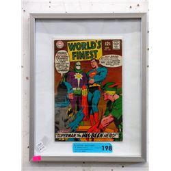 Framed 1968 World's Finest #178 12¢ DC Comic