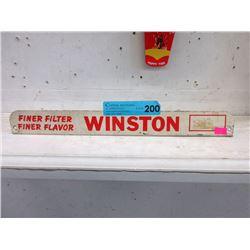 Vintage Metal Winston Cigarette Advertisement
