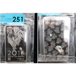 10 Oz Year of the Rooster .999 Silver Bar