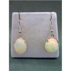 10.98 Carat Opal Sterling SilverEarrings