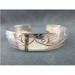 First Nations Sterling Silver Cuff Bracelet