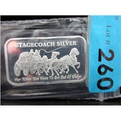 1 Oz.Stagecoach.999 Silver Art Bar