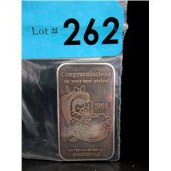 1 OzNational Refiners .999 Silver ArtBar