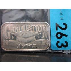 1 Oz Graduation motif .999 Silver ArtBar