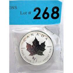 2014 Canada Maple Leaf .9999 Silver 1 Oz.Coin