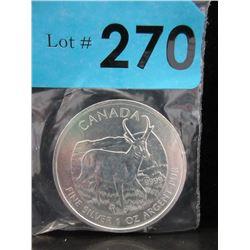 2013 CDA 1 Oz. Antelope .9999 Silver Coin