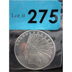 1 Oz Eagle/First Nations .999 Silver Round