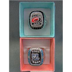 2 NHL Replica Stanley Cup Rings