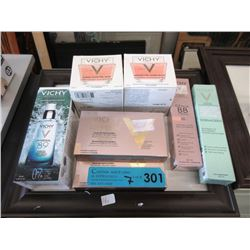 7 Assorted Vichy Cosmetics & Facial Care Products