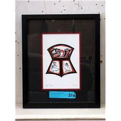 Richard Shorty Framed Print - Copper Design