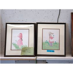 Pair of 1970's Original Watercolours by Wendy